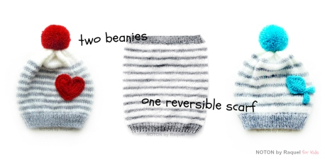 2 beanies 1 scarf