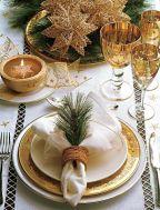 Gold Christmas table