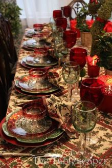 Traditional Red Christmas table