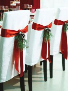 White and Red Christmas chairs