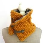 mustard yellow plaid scarf