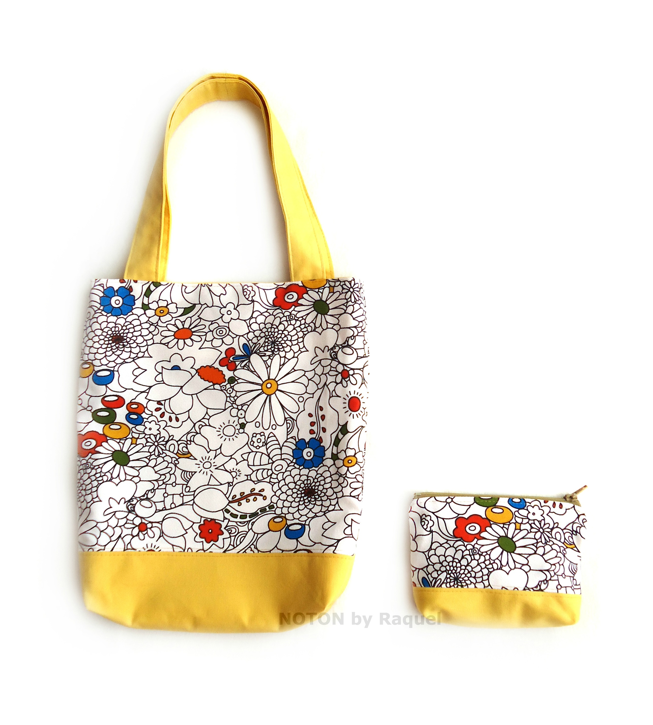 yellow summer tote bag