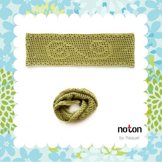 Green Crochet Scarf