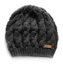 grey knit beret